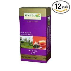 Sun Leaf Single Estate Tea In Pyramid Tea Bags, Ivy Hills Opa, 2.45