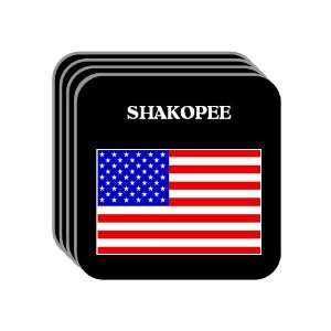 US Flag   Shakopee, Minnesota (MN) Set of 4 Mini Mousepad