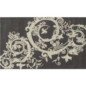 Cosa Bella Black and Cream Rug