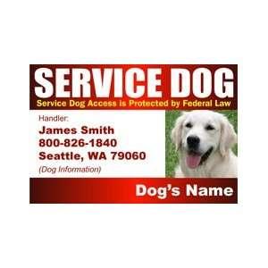 SERVICE DOG ID Badge   1 Dogs Custom ID Badge   Design#6