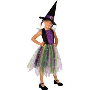 Light Up Rainbow Witch Child Costume Small Toys & Games