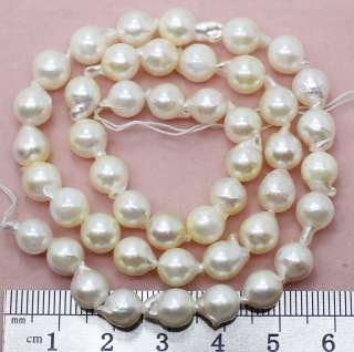 8mm natural white seawater cultured pearl loose beads gem strand 15