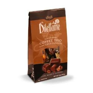 Dilettante Coffee Trio Truffle Cremes   5 oz Tent Bag