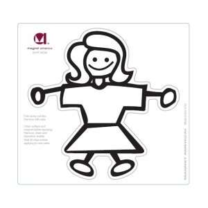 Mom Stick Figure Family Magnet Automotive