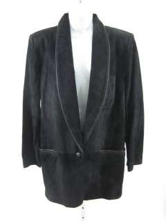 PHILLIP COURTNEY Black Suede Long Sleeve Coat Jacket M