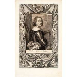 1722 Copper Engraving Matthias Graf Von Gallas Imperial
