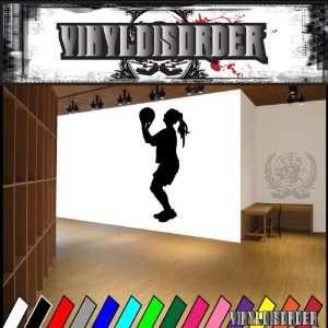Girl Basketball Ball Bball Sport Sports Vinyl Decal
