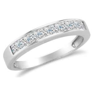 Set Highest Quality CZ Cubic Zirconia Womens Ladies Wedding Band Ring