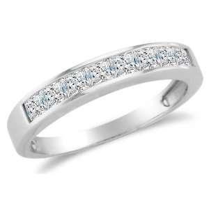 Set Highest Quality CZ Cubic Zirconia Womens Ladies Wedding Band Ring