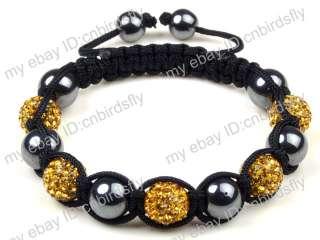 10mm CZ Disco Ball(9Pcs) Crystal Shamballa Bracelets + Gift Box 30 Mix