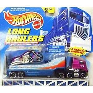 Mattel Hot Wheels Long Haulers Scorchin Scooter with Transport Truck