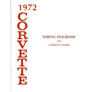 1972 CHEVROLET CORVETTE Wiring Diagrams Schematics: Automotive