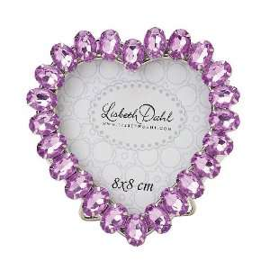 Lisbeth Dahl Heart Shaped Lilac Frame on Foot: Home
