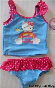 HELLO KITTY Girls 2T 3T 4T 5T Bathing Suit SWIMSUIT Bikini Tankini