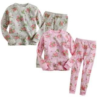 Toddler Kids Girl Cute Sleepwear Pajama Set  Lovely Rose