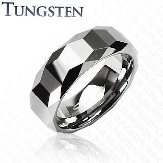 Carbide Faceed Mens Ring W/ Cuing Edges Design Sz10 |