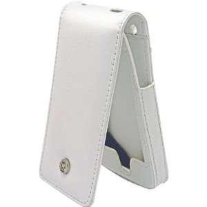 White SuitTM Premium Leather Flip Case For iPod(tm) touch Electronics