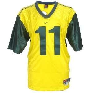 Nike Oregon Ducks #11 Yellow Twilled Football Jersey