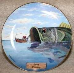 Danbury MINT Gary Patterson ART OF FISHING GONE FISHING