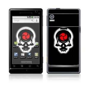 Motorola Droid Decal Skin   Samurai Death Skull
