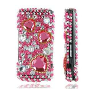 PINK HEARTS 3D CRYSTAL BLING CASE FOR SAMSUNG S8300 Electronics