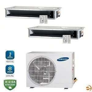 MH050FXCA2A+MH035FECAx2 Dual Zone Concealed Ceiling Mini Split Heat P