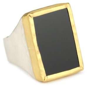 Nava Zahavi Onyx, Silver and High Karat Gold Ambition Ring