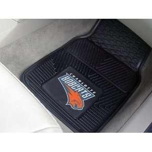 Charlotte Bobcats 2 Piece Heavy Duty Vinyl Floor Car Mat Set with Logo