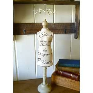 Jen   French Country Style Tall Fabric Wrapped Mannequin with Text