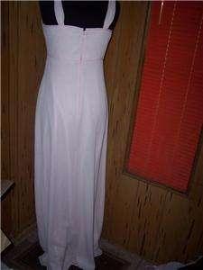 Davids Bridal size 6 pink formal dress full length