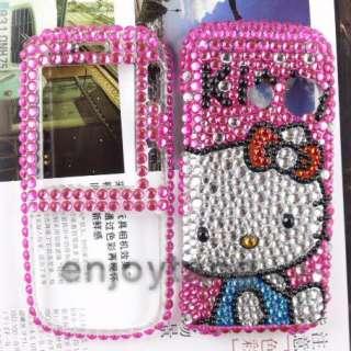 BLING Hello Kitty crystal COVER CASE fr LG RUMOR2 LX265