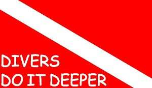 Divers Do It Deeper Dive Flag Scuba Sticker/Decal