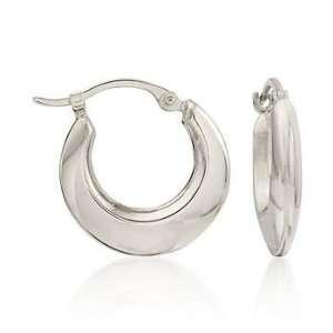14kt White Gold Hoop Earrings Jewelry
