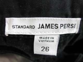 You are bidding on STANDARD JAMES PERSE Black Wide Leg Jeans size 26.