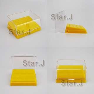 description dental high quality plastic burs holder with 24 holes for
