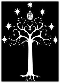 Lord of the Ring King of Gondor Flag Car Bumper Boat Window Sticker