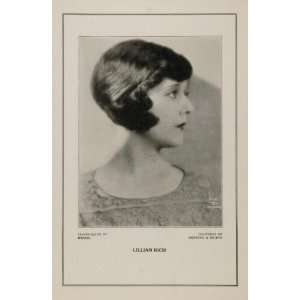 1927 Silent Film Star Lillian Rich Rebecca Silton Print