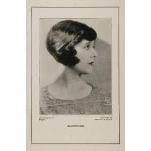1927 Silent Film Star Lillian Rich Rebecca Silton Print