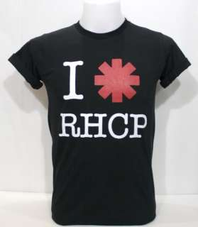 Love RHCP T Shirt Black Red Hot Chili Peppers Rock