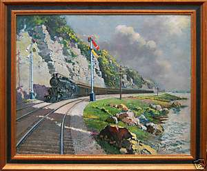 Locomotive Painting by renowned artist, Lebrun Jenkins