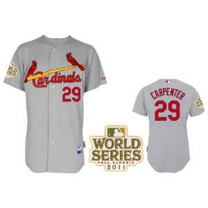 2012 New MLB St. Louis Cardinals #29 Carpenter White/grey