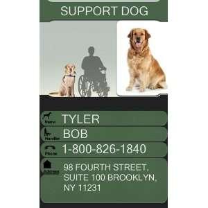 SUPPORT DOG Badge   1 Dogs Custom ID Badge   Design#1