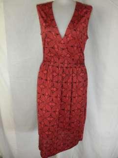 NIEVES LAVI NEW YORK BLACK & RED SILK JERSEY DRESS 12