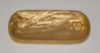 Antique Gilt Dore Bronze French Tray Signed C. Charles