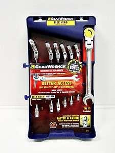 Metric Flex Head Ratcheting Combination Wrench Set 8   15mm New