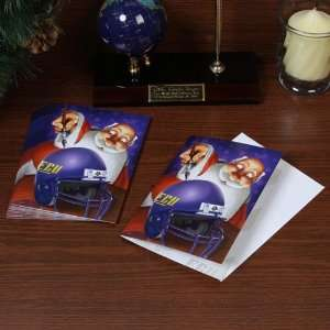 East Carolina Pirates 12 Pack Single Santa Painting Design Christmas