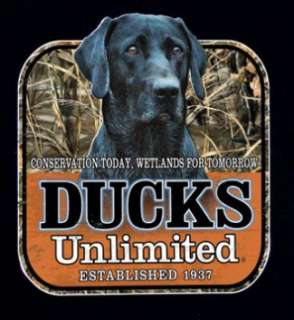 Ducks Unlimited T Shirt Max 4 Camo Black Lab Dog NWT