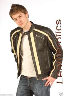 XMAS GIFTS FOR MEN LEATHER JACKET CLASSIC COWHIDE LARGE