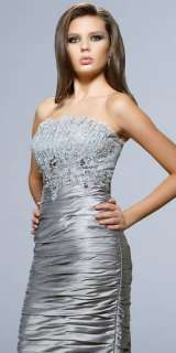 2011 Silver short Bridesmaid/Wedding/Prom Evening Dress