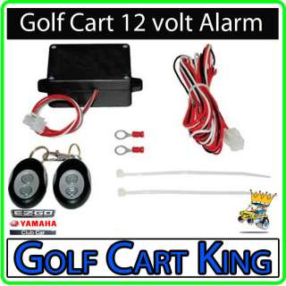 Alarm System for 12 Volt Golf Cart EZGO Club Car Yamaha